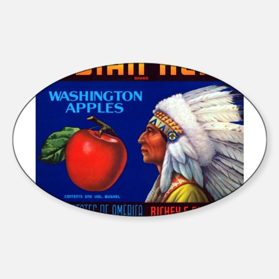 Indian Head Oval Decal
