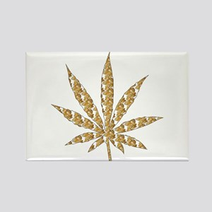 Shroom Weed Leaf Rectangle Magnet