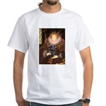 The Queen's Brindle Cairn White T-Shirt