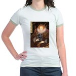 The Queen's Brindle Cairn Jr. Ringer T-Shirt