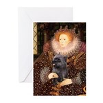 The Queen's Brindle Cairn Greeting Cards (Pk of 10