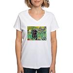 Irises / Cairn (#17) Women's V-Neck T-Shirt