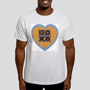 Quilt Heart Ash Grey T-Shirt