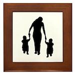 Mother and Children Framed Tile