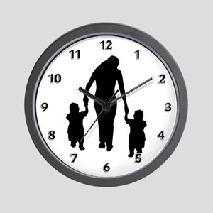 Mother and Children Wall Clock