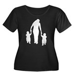 Mother and Children Women's Plus Size Scoop Neck D