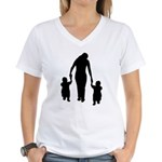 Mother and Children Women's V-Neck T-Shirt