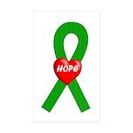 Green Hope Rectangle Sticker 50 pk)