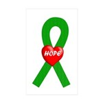 Green Hope Rectangle Sticker 10 pk)