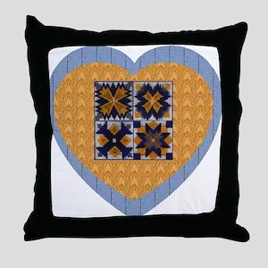 Quilt Heart Throw Pillow