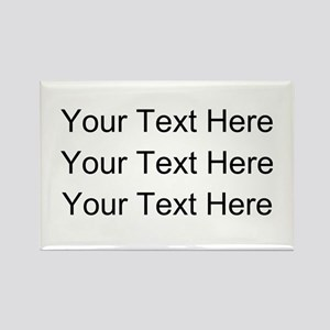 Customizable Personalized (Black Text) Magnets