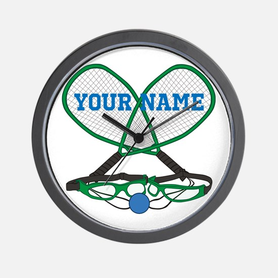 Personalized Racquetball Wall Clock