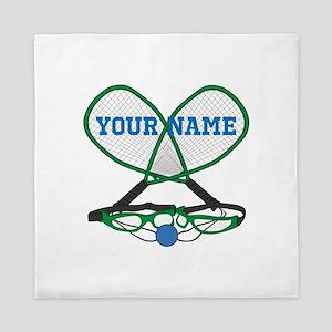 Personalized Racquetball Queen Duvet