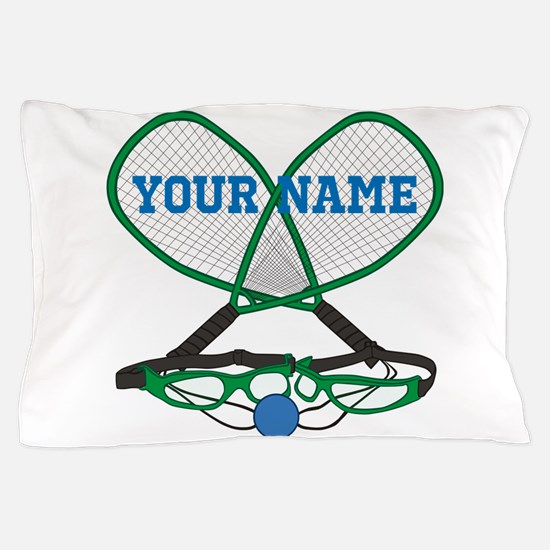 Personalized Racquetball Pillow Case