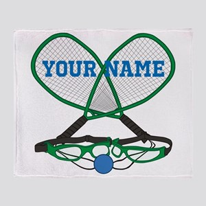 Personalized Racquetball Throw Blanket