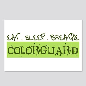 EAT . SLEEP . BREATHE Colorguard Postcards (Packag