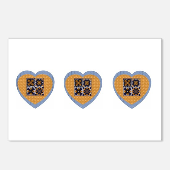 Quilt Heart Postcards (Package of 8)
