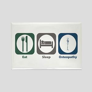 Eat Sleep Osteopathy Rectangle Magnet