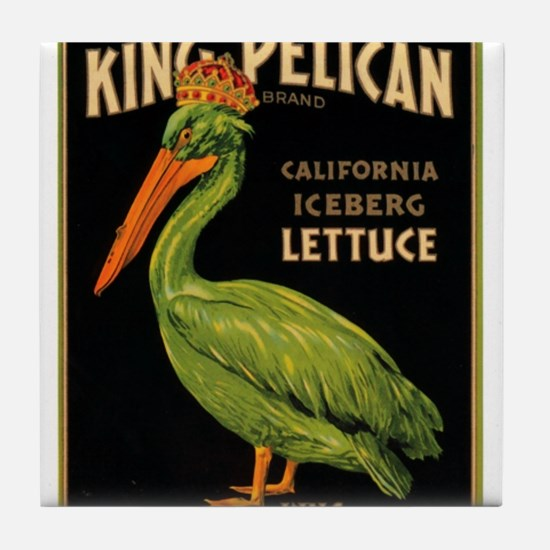 King Pelican Tile Coaster