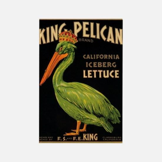 King Pelican Rectangle Magnet
