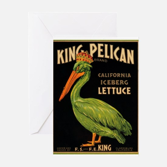 King Pelican Greeting Card