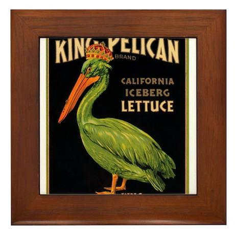 King Pelican Framed Tile