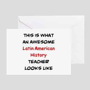 awesome latin american history teach Greeting Card