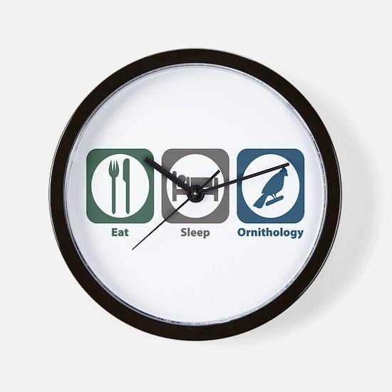 Eat Sleep Ornithology Wall Clock