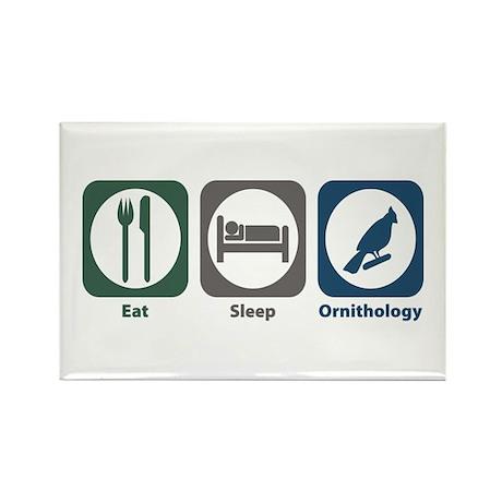 Eat Sleep Ornithology Rectangle Magnet