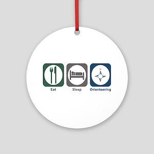 Eat Sleep Orienteering Ornament (Round)