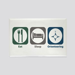 Eat Sleep Orienteering Rectangle Magnet