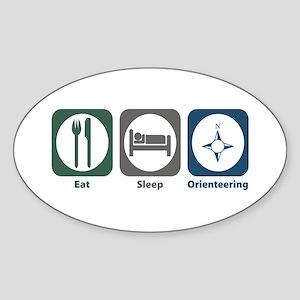 Eat Sleep Orienteering Oval Sticker