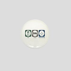 Eat Sleep Orienteering Mini Button