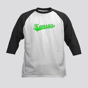 Retro Kansas (Green) Kids Baseball Jersey