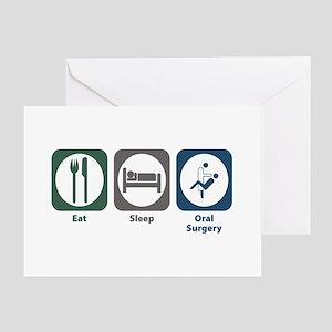 Eat Sleep Oral Surgery Greeting Card