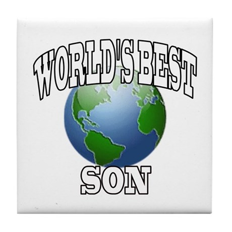 WORLD'S BEST SON Tile Coaster