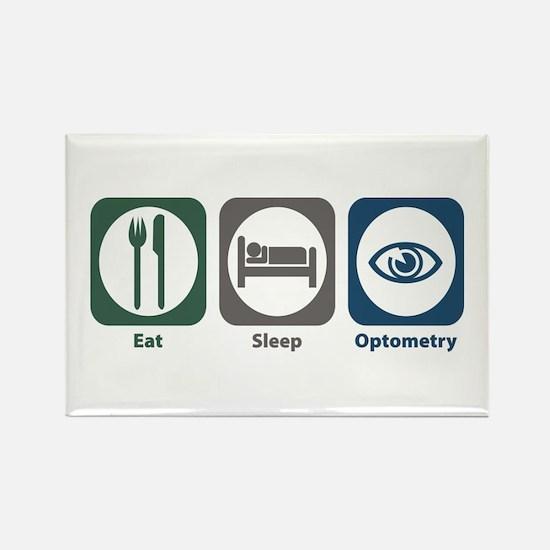 Eat Sleep Optometry Rectangle Magnet