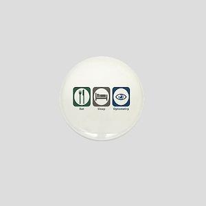 Eat Sleep Optometry Mini Button