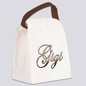 Gold Gigi Canvas Lunch Bag