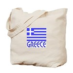 Greek Flag & Word Tote Bag
