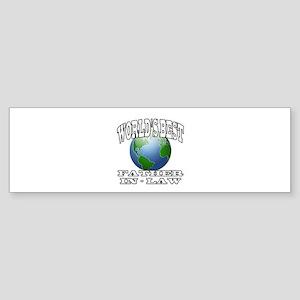 WORLD'S BEST FATHER-IN-LAW Bumper Sticker