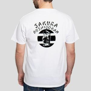 Sakura White T-Shirt (small logo on front pocket)