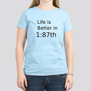 Life Is Better In 1:87th Women's Light Tee