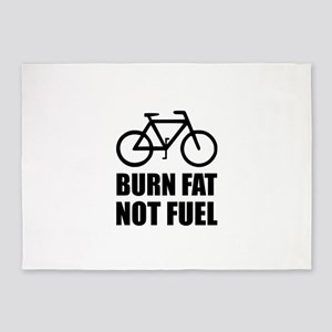 Burn Fat Not Fuel Bike 5'x7'Area Rug