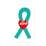 Teal Hope Rectangle Sticker 10 pk)