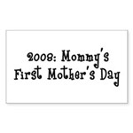 First Mother's Day Rectangle Sticker 50 pk)