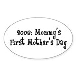 First Mother's Day Oval Sticker (50 pk)