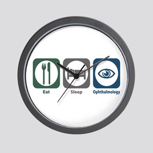 Eat Sleep Ophthalmology Wall Clock