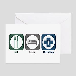 Eat Sleep Oncology Greeting Card