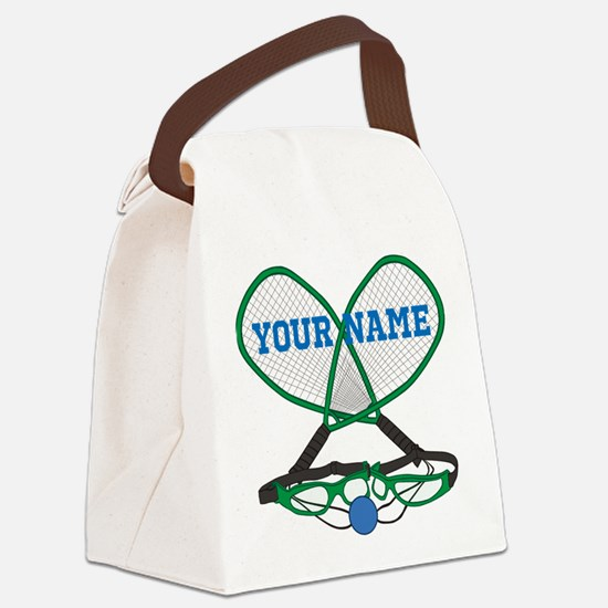 Personalized Racquetball Canvas Lunch Bag